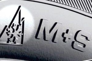 Σήμανση ελαστικών για λάσπη και χιόνι Εικονόγραμμα με βουνό και σήμανση M+S