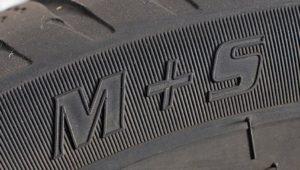 Σήμανση ελαστικών για λάσπη και χιόνι M+S