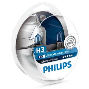 ΛΑΜΠΕΣ PHILIPS H3 DIAMONDVISION 5000K