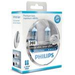 ΛΑΜΠΕΣ PHILIPS H4 WHITEVISION 4300K +60% 1