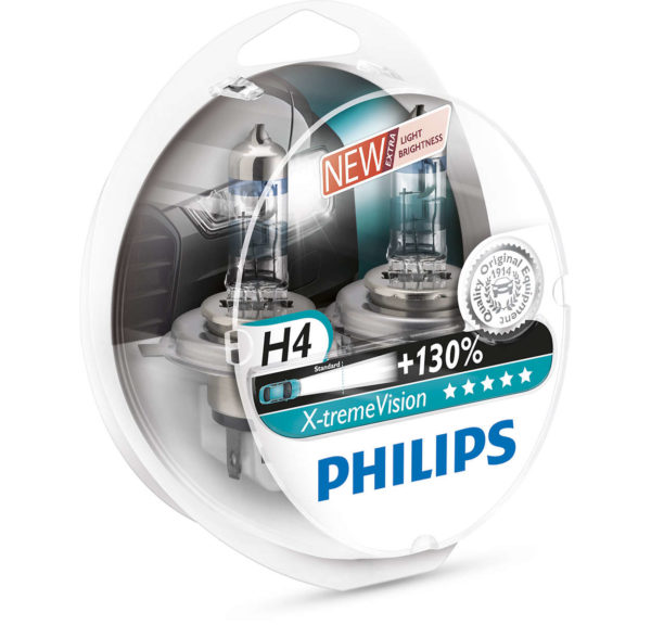 ΛΑΜΠΕΣ PHILIPS H4 X-TREME VISION 3700K +130%