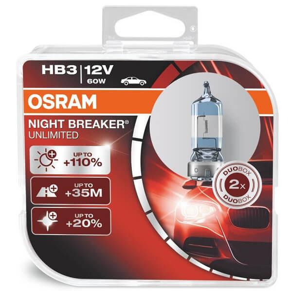ΛΑΜΠΕΣ OSRAM HB3 9005 NIGHT BREAKER UNLIMITED 3900K +110%