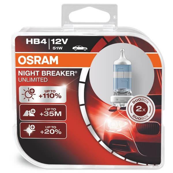 ΛΑΜΠΕΣ OSRAM HB4 9006 NIGHT BREAKER UNLIMITED 3900K +110%