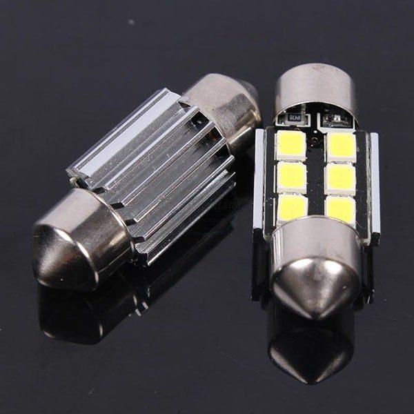 HELECO fenstoon led 31mm C5W - set 2 lampes pinakidas plafonieras canbus